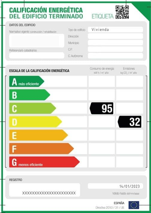 certificado energético de edificios